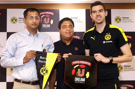 Tata Trusts U Dream Football Announces Partnership with Football Club Borussia Dortmund