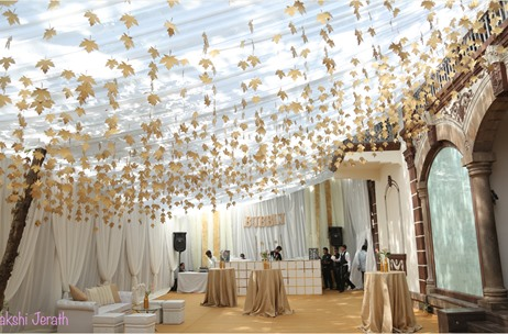 A Gorgeous White & Gold Private Do With A Kiss of Pink! Designed By Sakshi Jerath