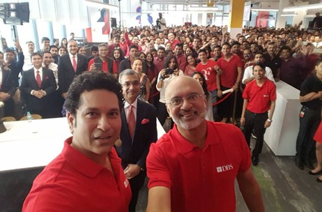 Percept ICE Manages the New Office Launch of DBS With Sachin Tendulkar