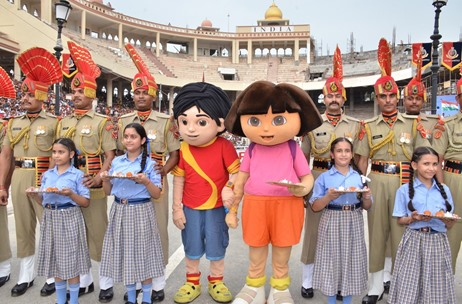 Children and Nickelodeon Toons Celebrate 'Surakshabandhan' with The Border Security Forces