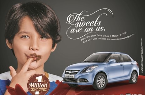 Maruti Suzuki DZire introduces the sweetest campaign to celebrate the 1 million milestone
