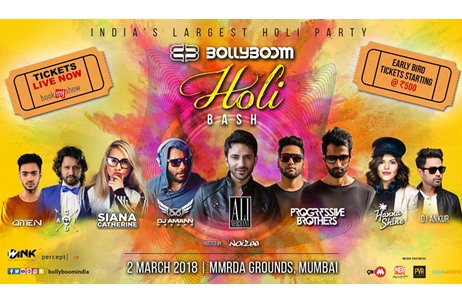Percept Live Brings Back the Second Edition of 'Bollyboom Holi Bash'