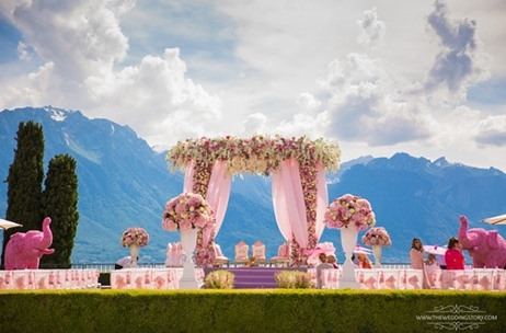Percept Weddings Recreates Allure and Elegance for this Montreux, Switzerland Wedding