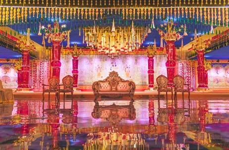 Celebrations by Mushtaq Ali Brings Live Beauty of Vrindavan for This Hyderabad Wedding