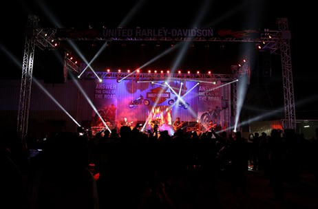 The Yellow Stage Creates A Rugged Look at United Harley-Davidson Dealership Launch in Lucknow