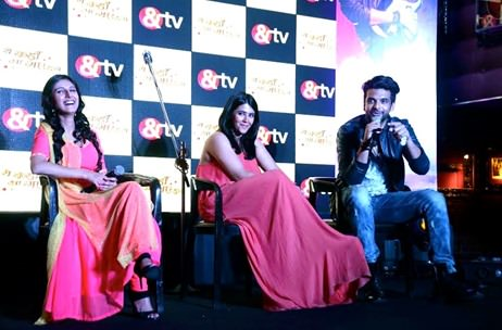 Up On The Stage manages the media launch of &TV's musical soap opera 'Yeh kaha Aagaye Hum'