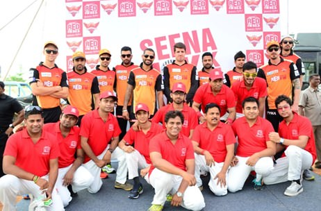 93. 5 Red FM organises a friendly cricket match with SunRisers Hyderabad players