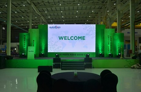 A for Pineapple Engineers Green launch for Autogen Korea's India Plant