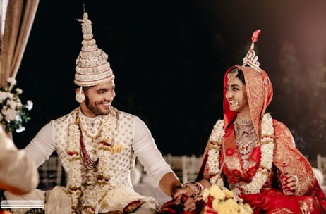 Kannada Actors Aindrita Ray Diganth Tie Knot In An Environmental Friendly Wedding Celebration India News Updates On Eventfaqs
