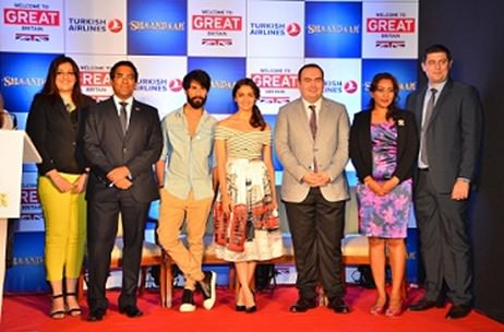 Alia Bhatt & Shahid Kapoor at the 'Bollywood Britain – Shaandaar' Campaign!