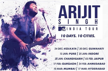 MTV and Wizcraft Announce 'MTV India Tour' Featuring Arijit Singh Live in Concert in 10 Cities