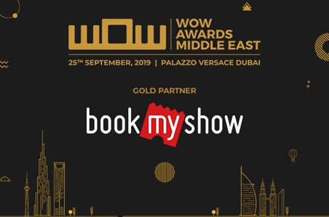 BookMyShow Comes On-Board as Gold Partner for WOW Awards Middle East