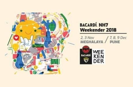 bacardi nh7 weekender 2018 pune and meghalaya edition dates
