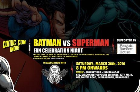 Comic Con India To Host Multi City Batman Vs Superman Fan Celebration Night
