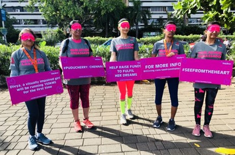'See From the Heart', a Blindfold Run Organised in Mumbai to Support the Spirit of Pinkathon