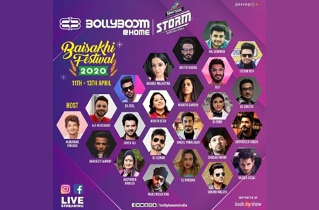 Percept Live launches the premiere edition of Bollyboom@Home 'Baisakhi Festival Celebrations 2020'