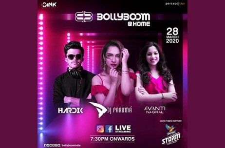 Percept Live Announces 'Bollyboom @ Home' to Encourage Social Distancing Rules