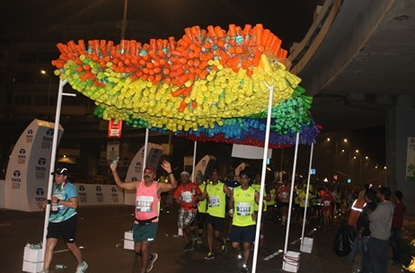 Bisleri Engages Runners at TATA Mumbai Marathon With a 'Bottles for Change' Installation