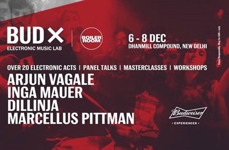 Budweiser and Boiler Room Bring 'BUDx' - a 3-Day Electronic Music Lab To Delhi