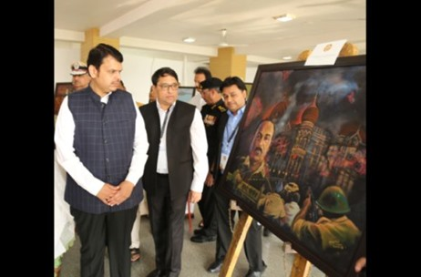 Chief Minister Unveils Kokuyo Camlin's 'Canvas of Courage' on 26/11