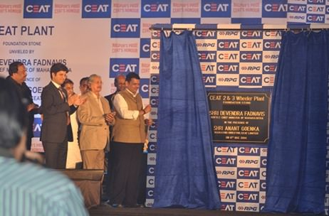 CEAT launches a tyre plant in Nagpur with Maharasthra's CM