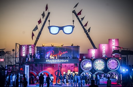 The Yellow Stage Creates a Mammoth Setup & Experiential Zone for Ray-Ban at Sunburn Hills