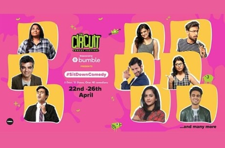 The Circuit Comedy Festival Goes Digital, Features More than 40 Top Comedians from the Country!