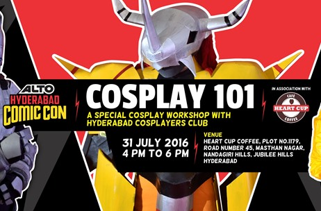 Comic Con India to Conduct Beginners' Cosplay Workshop in Hyderabad