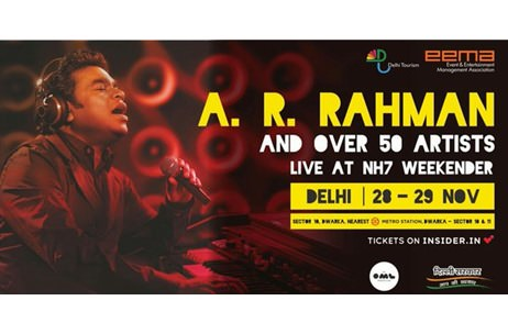 NH7 Weekender Headlined By A R Rahman First To Benefit From Delhi Tourism - EEMA Partnership