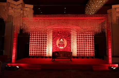 JW Marriott, Aerocity Beatifully Lit for a Wedding by Perfexion Weddings & Events