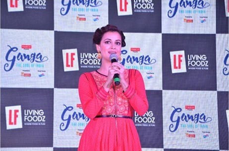 Up On The Stage Crafts the Launch Press Conference for Dia Mirza's New Travel Show on Living Foodz