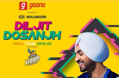 Percept Live Announces 5 City Bollyboom Diljit Dosanjh India Tour 2019-20