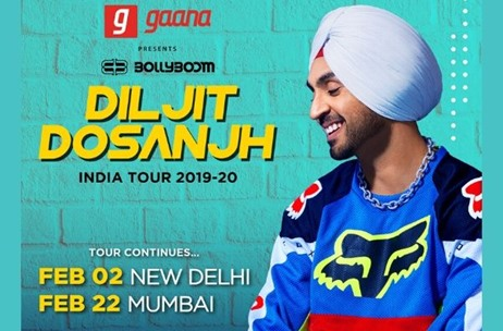 Percept Live announces the Delhi & Mumbai Editions of Bollyboom Diljit Dosanjh India Tour 2020