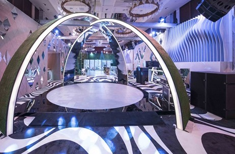 ZEE 25 Years Grand Party Sees a Contemporary & Chic Décor by Percept ICE