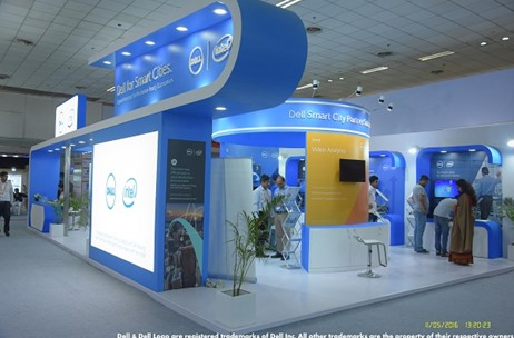 A Futuristic Stall for Dell India at the 2nd Smart Cities India Expo in Delhi by Fountainhead MKTG