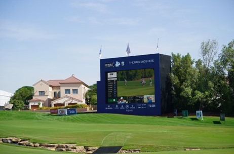 DP World Tour Championship - Dubai, Screens and Cameras Supplied by Creative Technology