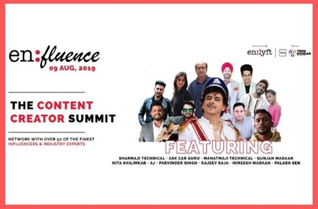 Enlyft Networks to Host 'en:fluence - The Content Creator Summit'