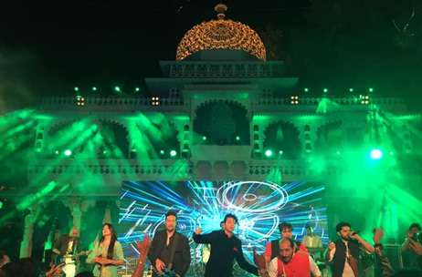 Saleem-Sulaiman's Gig & Exquisite Decor At Udaipur Wedding By Q Events by Geeta Samuel
