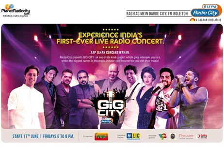Radio City 91.1 FM Brings To Listeners 'Gig City' - India's First Ever Live Radio Concert
