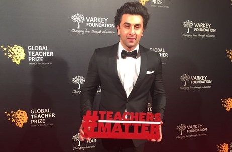 Ranbir Kapoor Associates with Global Teacher Prize 2017