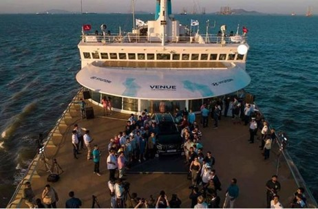 Hyundai Launches 'Venue' a Made in India SUV on the Indian Passenger Ship Angriya