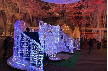 Imagine Ice Builds a Stunning Ice Bridge for Cocktail by Amit Rishi