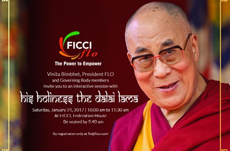 Dalai Lama to Interact with FICCI Ladies Organisation in Delhi