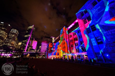 TDC Uses Barco UDX for Large Scale Laser Projection at Vivid Sydney 2017