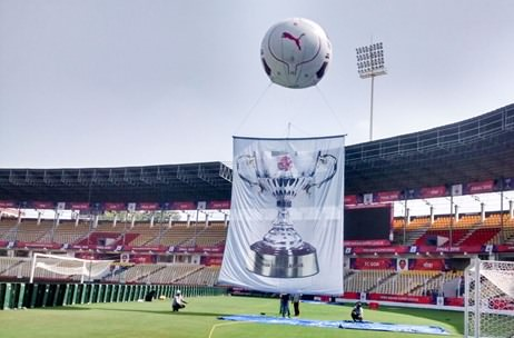 Natura Rigs Giant Banner On A Helium Balloon For ISL Finale in Goa