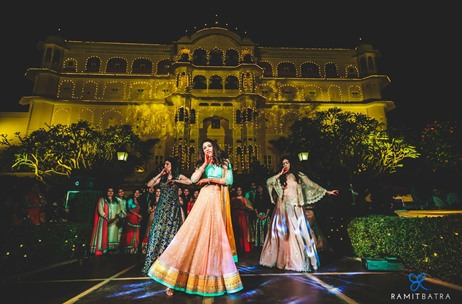 A 2-Day Super Fun NRI Wedding at Samode Palace, Jaipur by Premier Lifestyle
