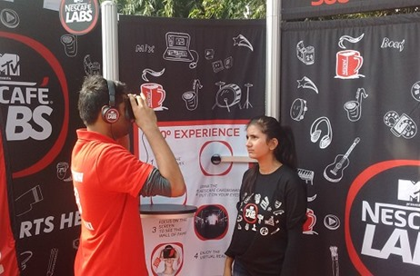 Vibgyor Brand Services Creates Virtual Reality Zones for 'MTV Presents Nescafe Labs' at IIM Lucknow