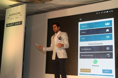 TOAST Uses Futuristic Elements at ARROW's Smart Shirts Unveil by Ayushman Khurrana