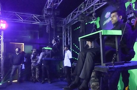PepsiCo Annual Conference Plays Airborne Counter Strike At The Mountain Dew Gamezone Console