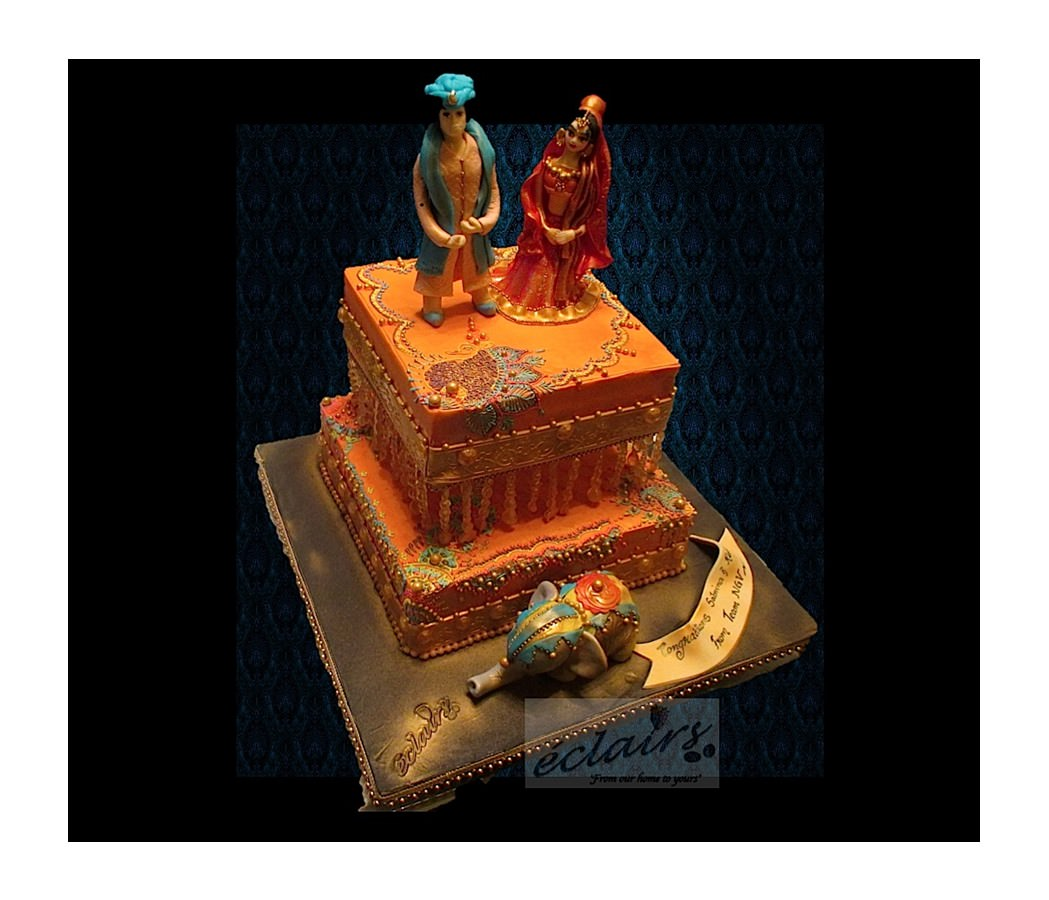 Eclairs Creates Traditional Cake For Swiss Client S Wedding In India